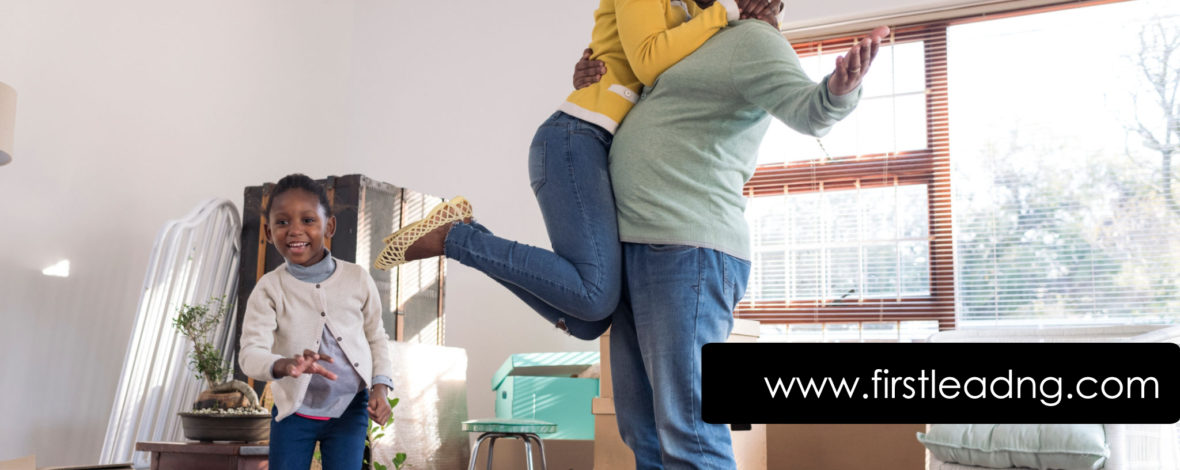 Young family jumps for joy moving into new home